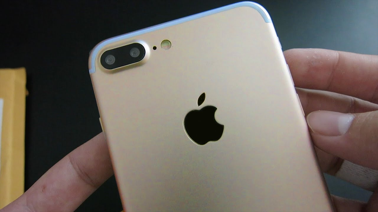 iphone 7 plus clone gold unboxing youtube. Black Bedroom Furniture Sets. Home Design Ideas
