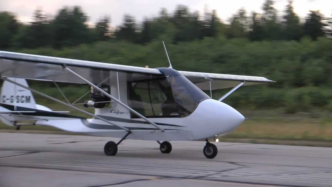 Quad City Challenger II Flying at Sunset - YouTube