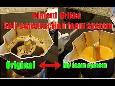 Bialetti Brikka Espresso Crema  Self-construction Foam System Englisch