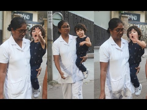 Taimur Ali Khan Screams And Calls Media As He Doesn't Get Attention