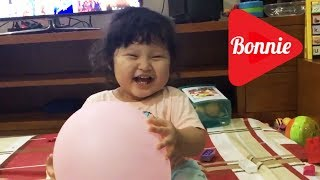 Baby Bonnie Laughing Hysterically at Balloon - Funny Baby Laughing Videos