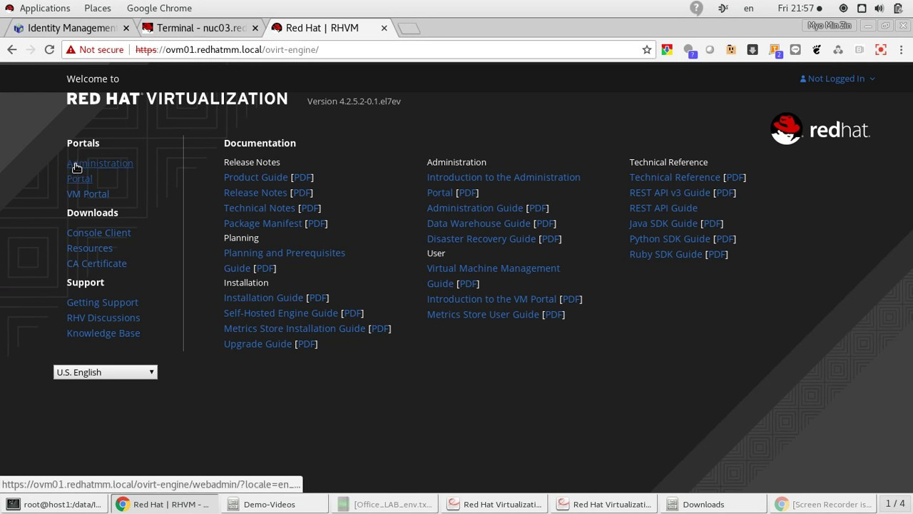 Red Hat Virtualization 4 2 - Self-Hosted Engine Initial Configuration  (Part-4)