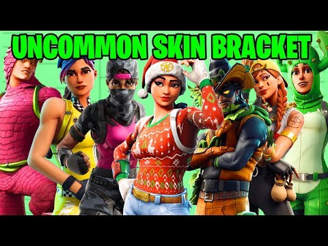 ALL UNCOMMON SKINS IN A BRACKET! (10 BEST UNCOMMON SKINS!) | Fortnite Battle Royale!
