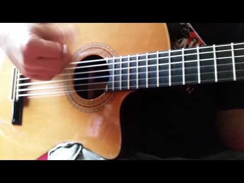 Closeup Flamenco Guitar Playing
