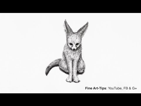 How to Draw a Fox With Pen - Narrated