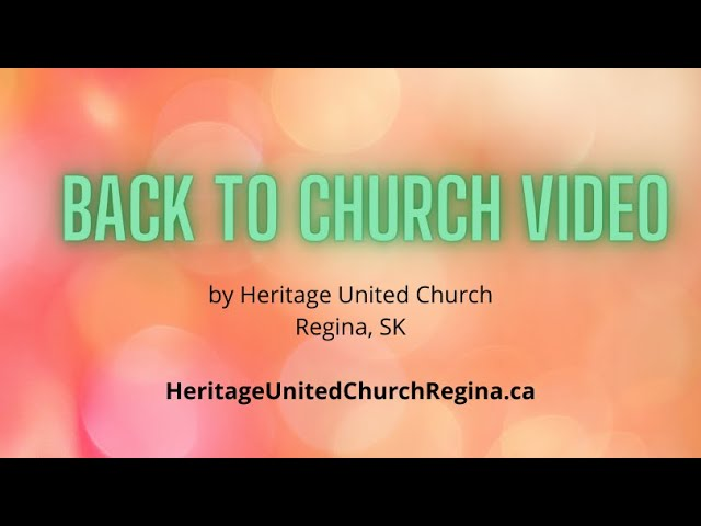 Back-To-Church Video
