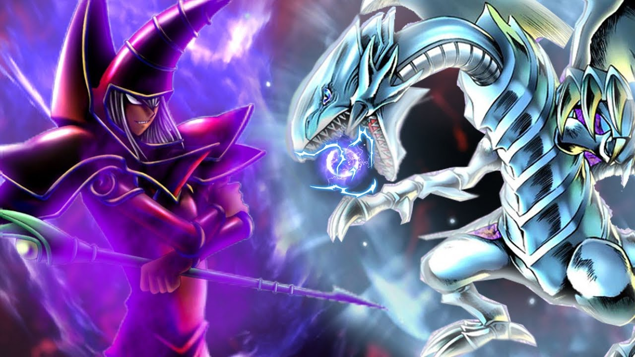 Image result for blue eyes white dragon vs dark magician