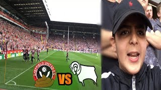 CRAZY SCENES AT BRAMALL LANE! SHEFFIELD UTD VS DERBY - AWAY DAYS WIV YA BOY!!!
