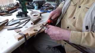 walking stick making antler thumb stick demonstration series 3