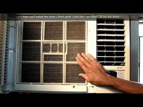 Window Air Conditioner Servicing | Simple Window AC Cleaning | DIY