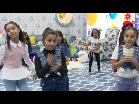 قناة اطفال ومواهب الفضائية استعراض بيان وليان من حلقة بيت الزهور