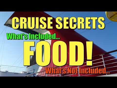 Carnival Cruise Secrets - What's Included - Food!
