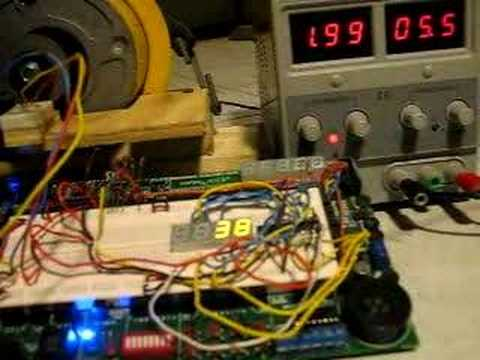 Hall effect tachometer for electric motor demo youtube for Tachometer for electric motor