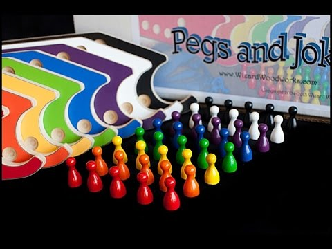8 Player Pegs And Jokers Game By Wizard Woodworks