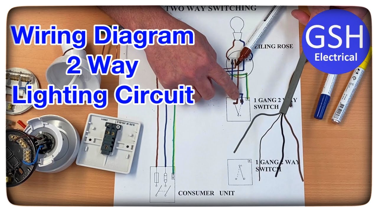 Wiring Diagram 2 Way Switching of a Lighting Circuit Using the 3 Plate  Method Connections Explained - YouTubeYouTube