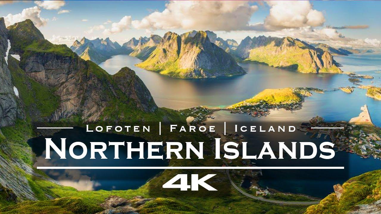 The cold northern Islands | Lofoten 🇳🇴 | Iceland 🇮🇸  | Faroe 🇫🇴 - by drone [4K]