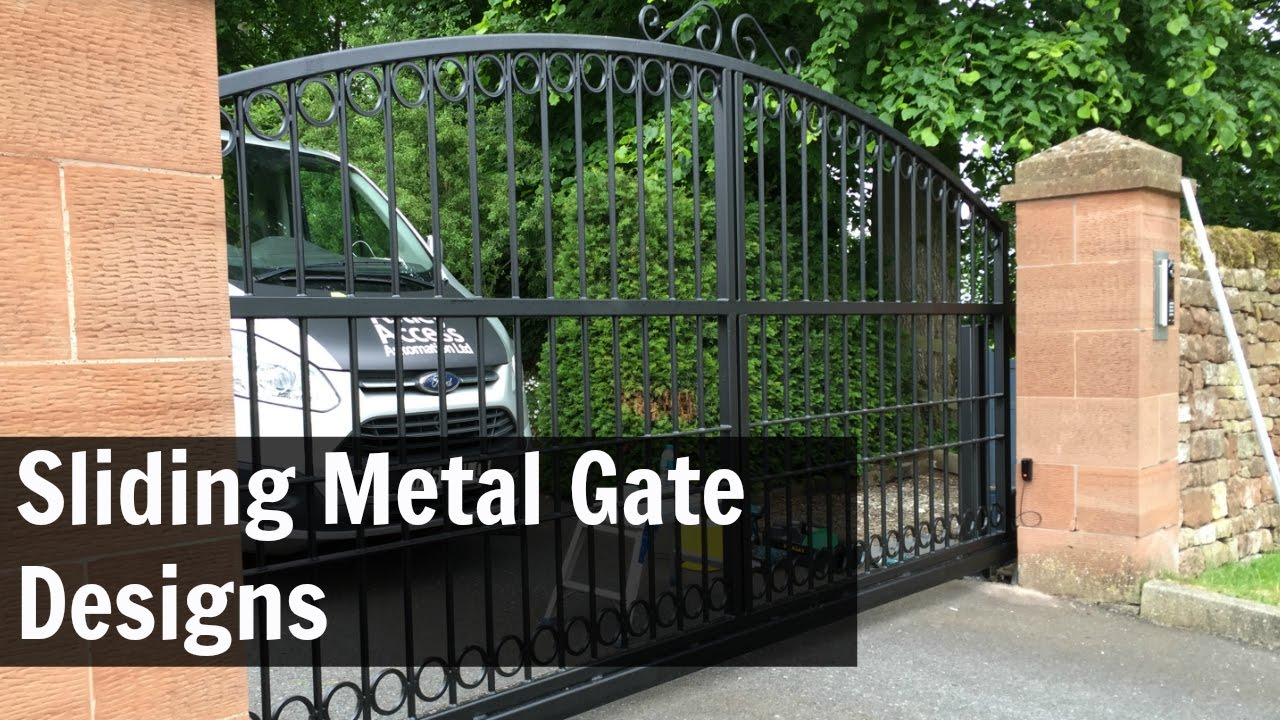Sliding Metal Gate Designs - YouTube