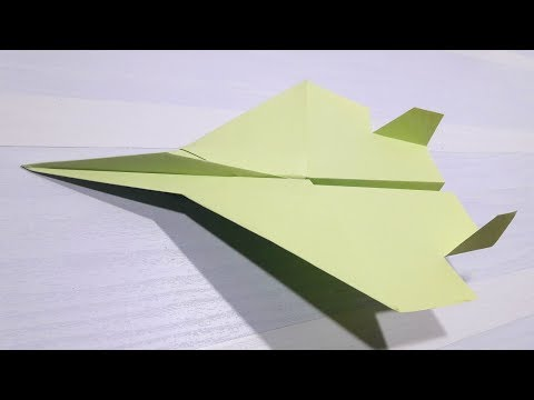 How to make an F15 Eagle Jet Fighter Paper Plane (Tadashi Mori ... | 360x480