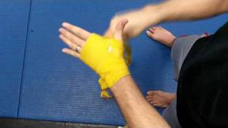 Free MMA Videos - How to Wrap Hands for Boxing, Kickboxing, & Mixed Martial Arts (UFC style)