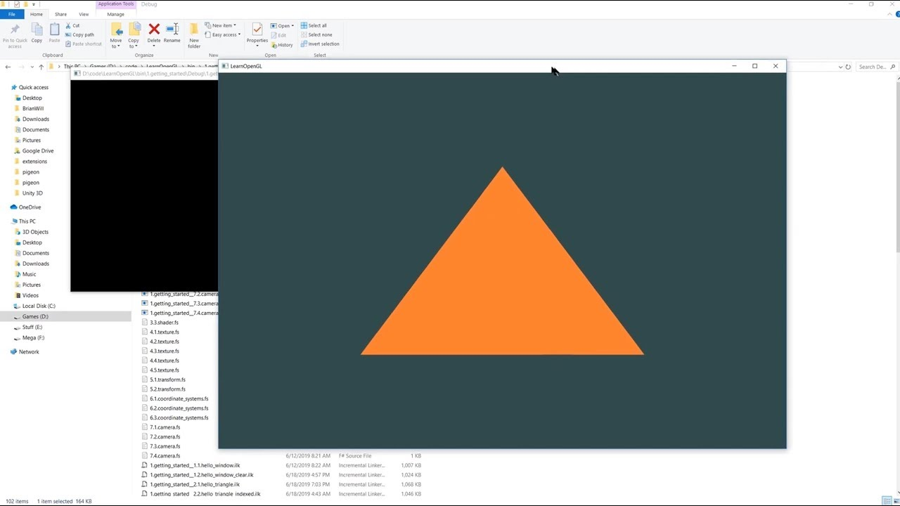 Download OpenGL - draw a triangle