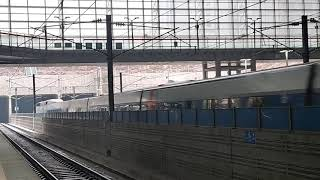 KTX한국고속철도 xx행통과 100000호대 xxx호기…