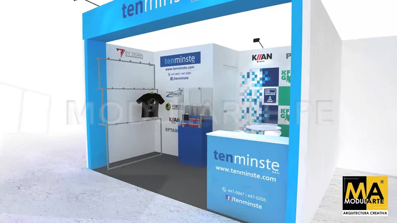 Dise o de stands 3d para ferias youtube for Un stand