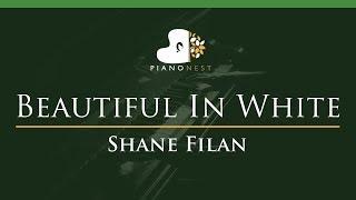 Shane Filan - Beautiful In White - LOWER Key (Piano Karaoke / Sing Along)