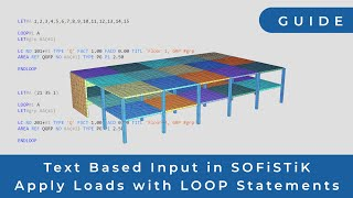 SOFiSTiK - Increase Your Productivity with CADiNP and the LOOP Function