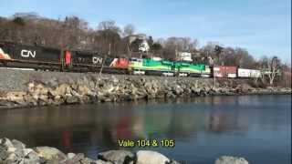CN#120 With 5 SD80ACes For Carajas Railroad Vale Do Rio Doce Arriving In Halifax 18 March 2012