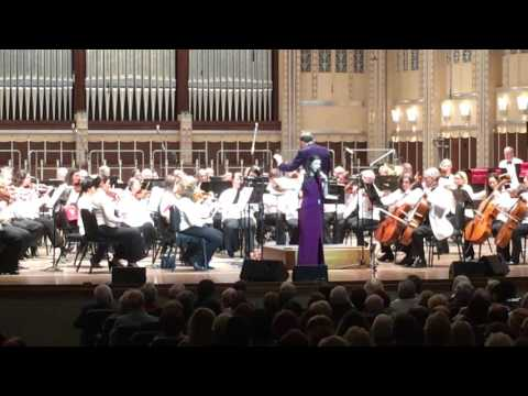 """Tori Ackley performs her own composition """"Happy To Be Me"""" with the Cleveland Pops Orchestra"""