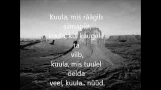 Ott Lepland - Kuula (sõnad/lyrics) | Eurovision 2012 Estonia.