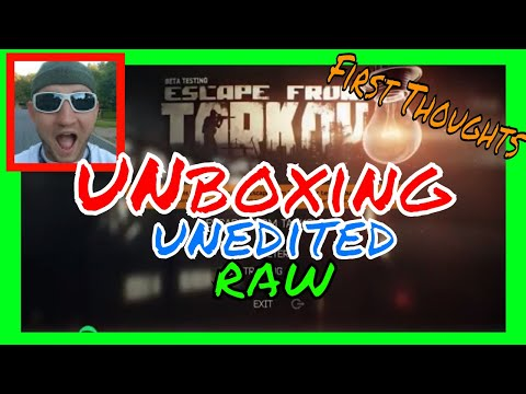 UNBOXING Escape From Tarkov Standard Edition and Initial Thoughts