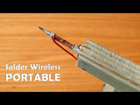 How to Make Solder Iron wirelessly. Can Be Taken Anywhere | How To Make Solder Iron Portable