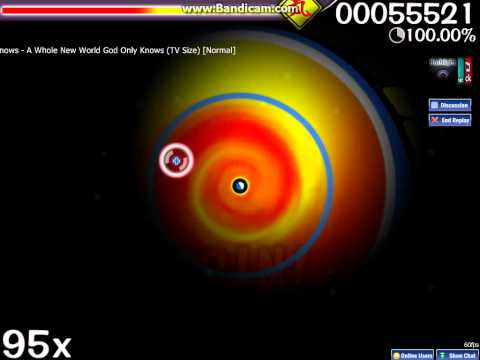 osu! Oratorio The World God Only Knows - A Whole New World God Only Knows TV Size [Normal]