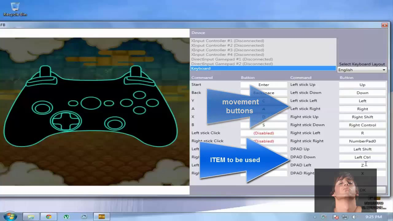 [quick-vid] FULLY explained SIMPLE PC keyboard settings for NARUTO  SHIPPUDEN Ultimate Ninja STORM 3