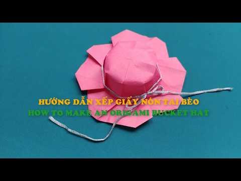 Hướng dẫn xếp giấy nón tai bèo | Foci