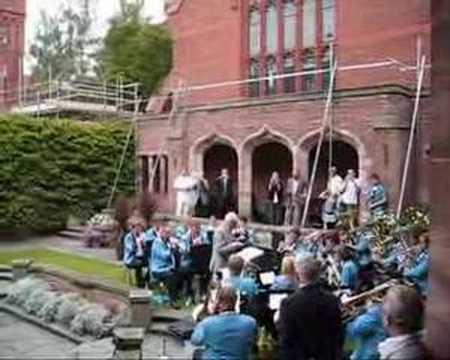 Bill Last conducting the Cambridge Brass Band