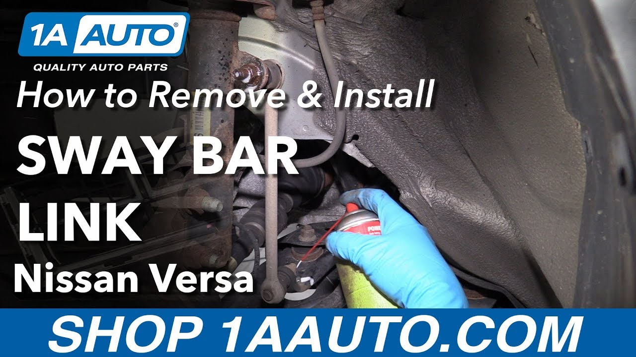 how to install sway bar link 12 19 nissan versa [ 1280 x 720 Pixel ]