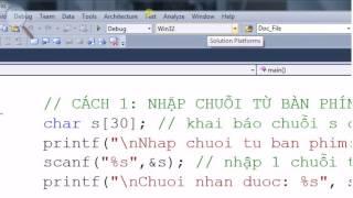 [Lập trình C/C++] Khai báo - Nhập và xuất chuỗi từ bàn phím