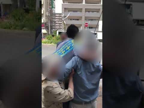 NHKから国民を守る党・立花孝志が演説中にパヨ爺が妨害! パヨ爺を私人逮捕したときの映像をご覧下さい