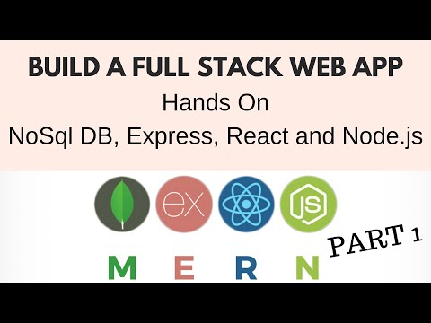 Build Full Stack Web App Using MongoDB, Express, React and Node.js from Scratch step by step Part 1 thumbnail