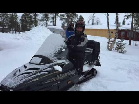 Snowmobiling in Kiruna, April 4th, 2015