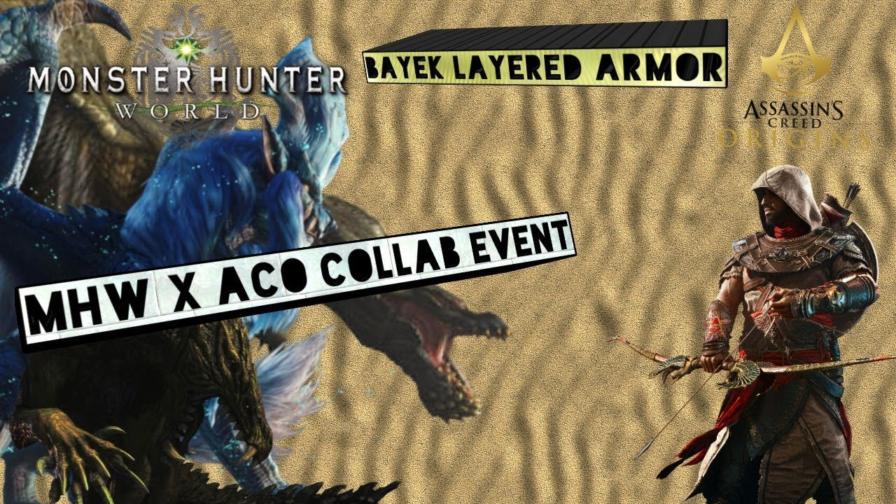 MHW X Assassin's Creed Crossover Layered Gear! - смотреть онлайн на