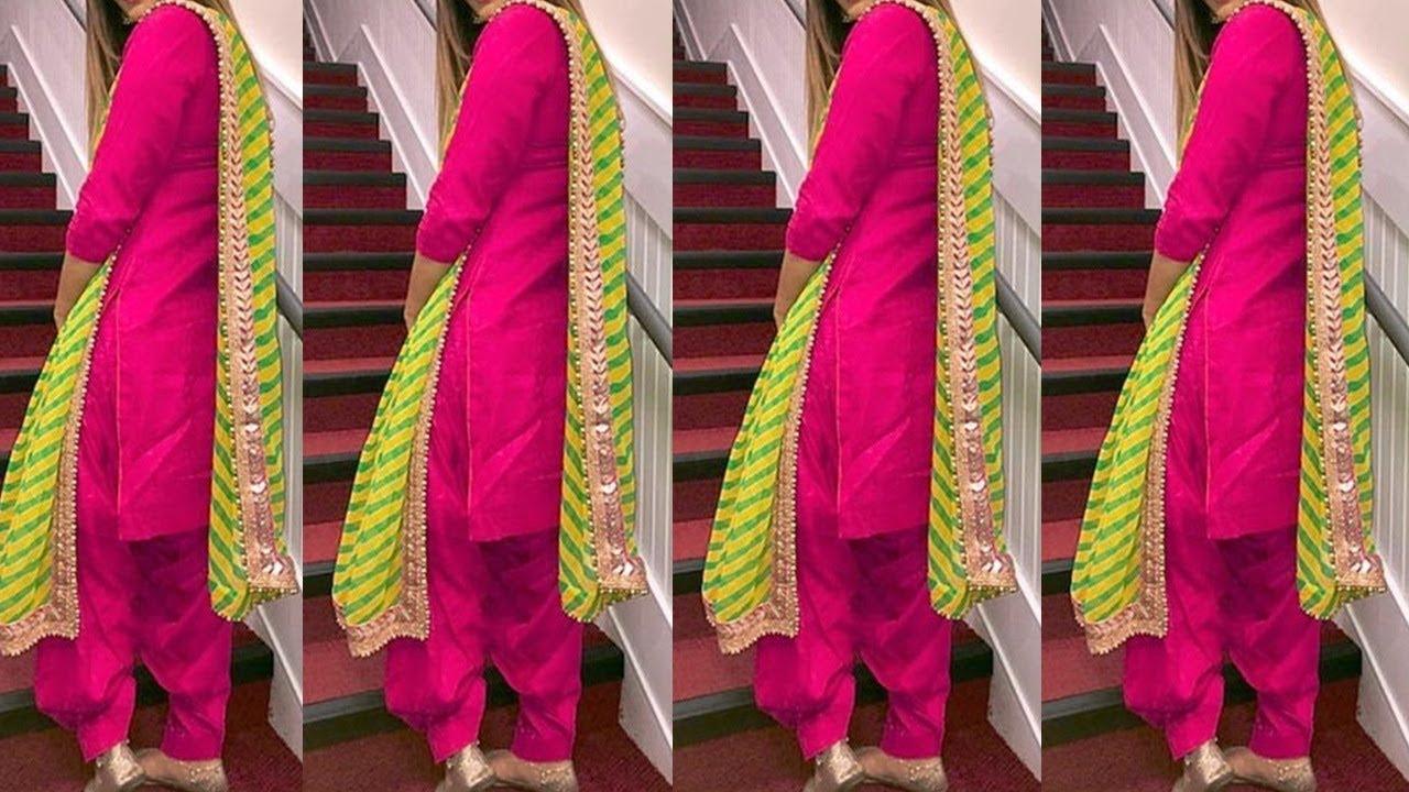 Top 10 Colour Combination For Punjabi Suits || Latest Plain Punjabi Suit  Designs 2019