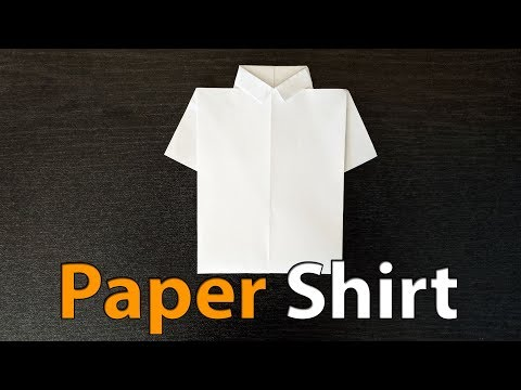 How to Make Shirt out of Paper - How to Make Paper Things at Home #5