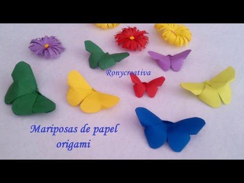Manualidades de papel faciles mariposas origami - Youtube manualidades de papel ...
