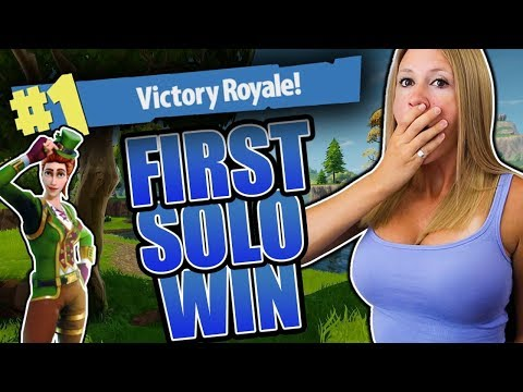 MY FIRST SOLO WIN!! FORTNITE BATTLE ROYALE!