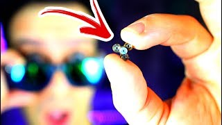 NEW WORLD'S SMALLEST Hand Fidget Spinner CHALLENGE! Funny and Rare Tiny EDC Smaller than a pinhead!