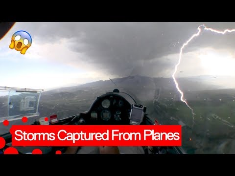 Scary Lightning strikes captured from planes.
