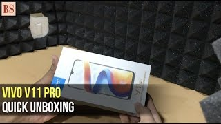 Vivo V11 Pro: Quick unboxing